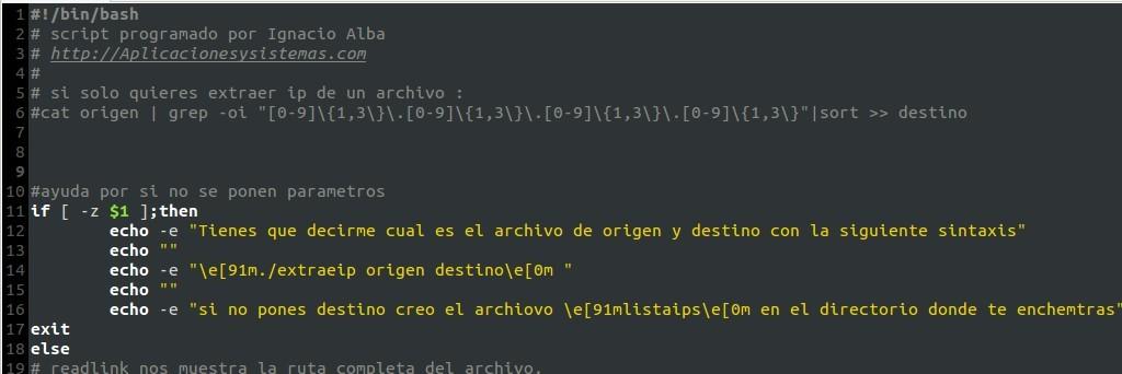 como extraer las direcciones ip de un archivo